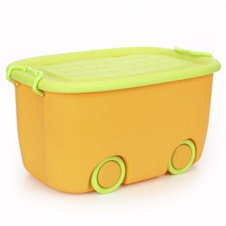 Organizer na zabawki na kółkach zielony OR17POM