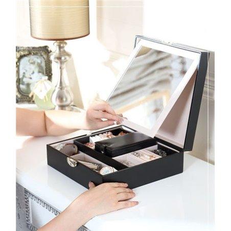 Szkatułka na biżuterię, kuferek z lusterkiem PD58CZ