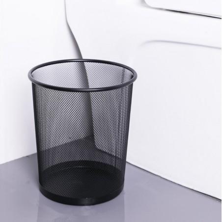 Kosz z metalowy z siatki na papier 19 litrów czarny OB02CZ
