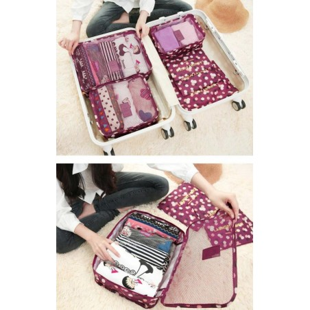 Organizer for suitcases, set of 6 sachets KS21WZ2