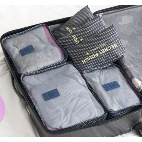 Organizer for suitcases, set of 6 sachets KS21WZ4