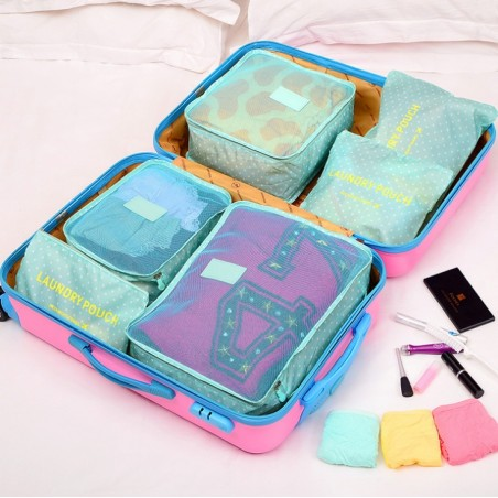 Organizer for suitcases, set of 6 sachets KS21WZ6