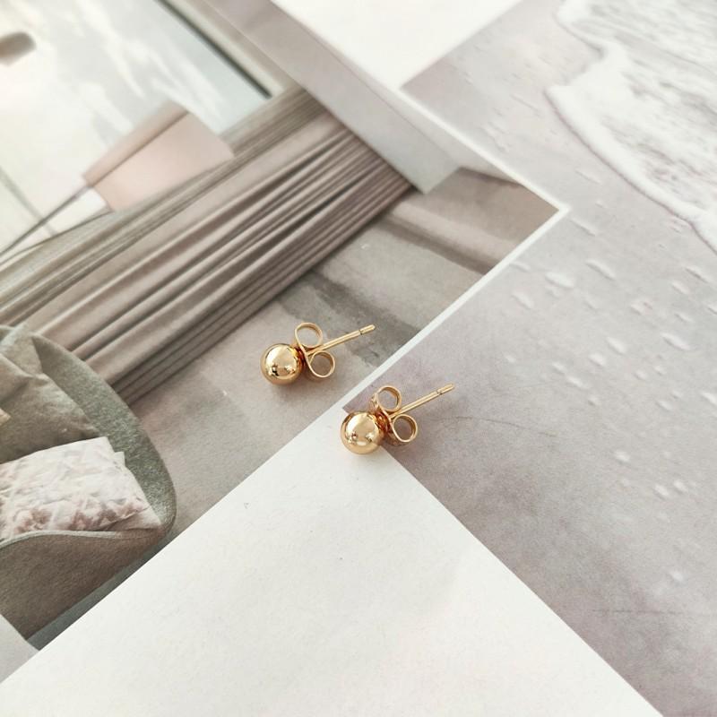 Kolczyki ze stali chirurgicznej platerowanej złotem KST1692