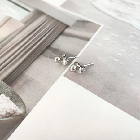 Kolczyki ze stali chirurgicznej platerowanej złotem KST1695