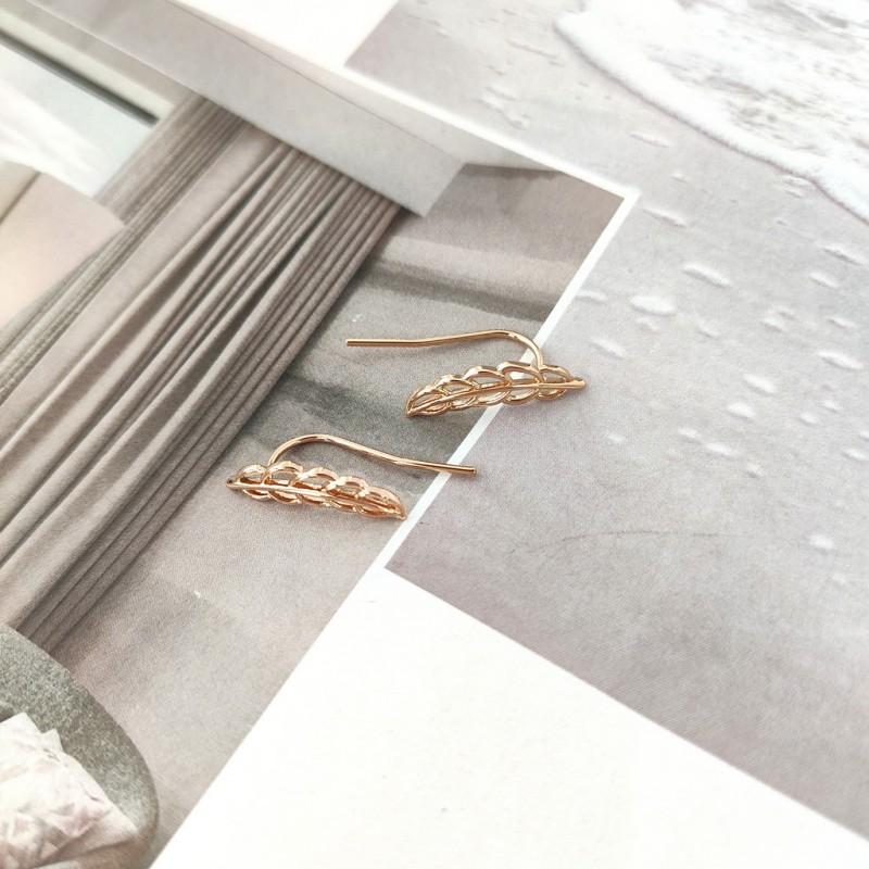 Kolczyki ze stali chirurgicznej platerowanej złotem KST1699