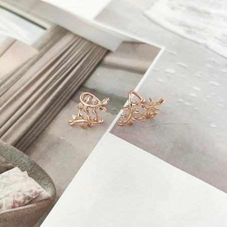 Nausznice ze stali szlachetnej platerowane złotem KST1702