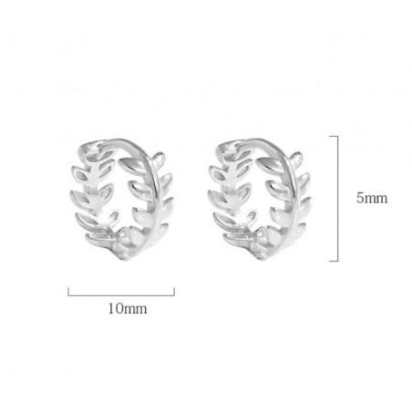 Kolczyki srebro 925 LEAF KST1659
