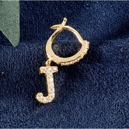 Kolczyki pozłacane literka J KST1683J