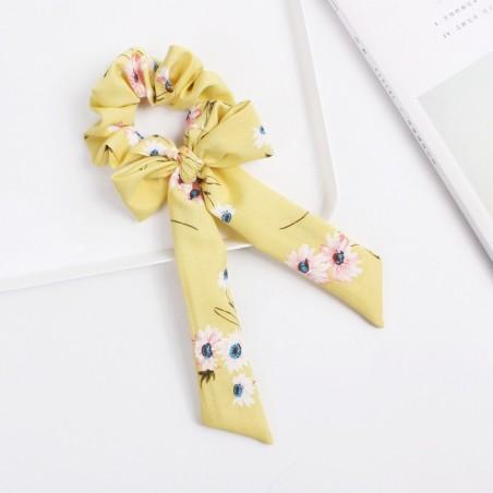 Gumka do włosów apaszka krótka żółta PIN UP GUM36WZ5