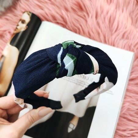 Opaska turban z materiału print O326WZ6