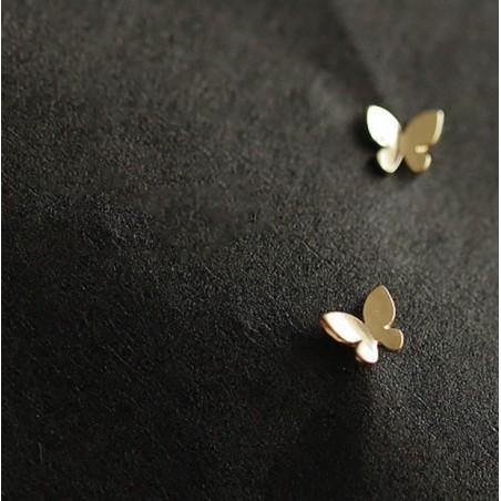 Kolczyki pozłacane 14K gold motylki KST1667
