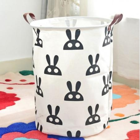 Pojemnik na zabawki kosz, worek na pranie króliki OR2WZ1