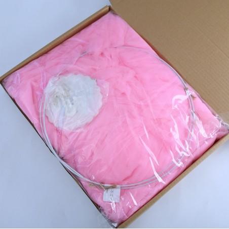 Baldachim do łóżeczka tiulowy, duży, gęsty, neon pink BAL1CR