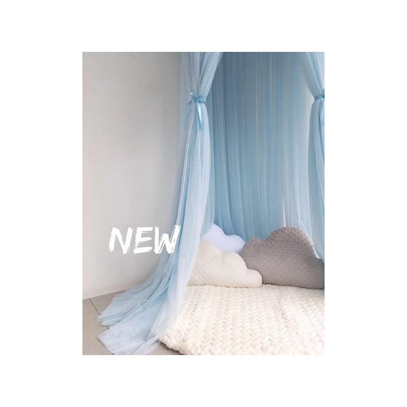 Baldachim do łóżeczka tiulowy, duży, gęsty, baby blue BAL1N