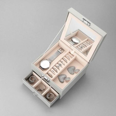 Szkatułka kuferek etui organizer na biżuterię STENBERG szara PD70SZ