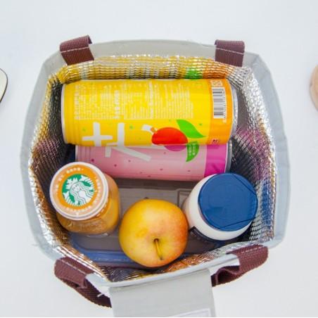 Torba termiczna do przenoszenia żywności LUNCH BOX szary PJM04R