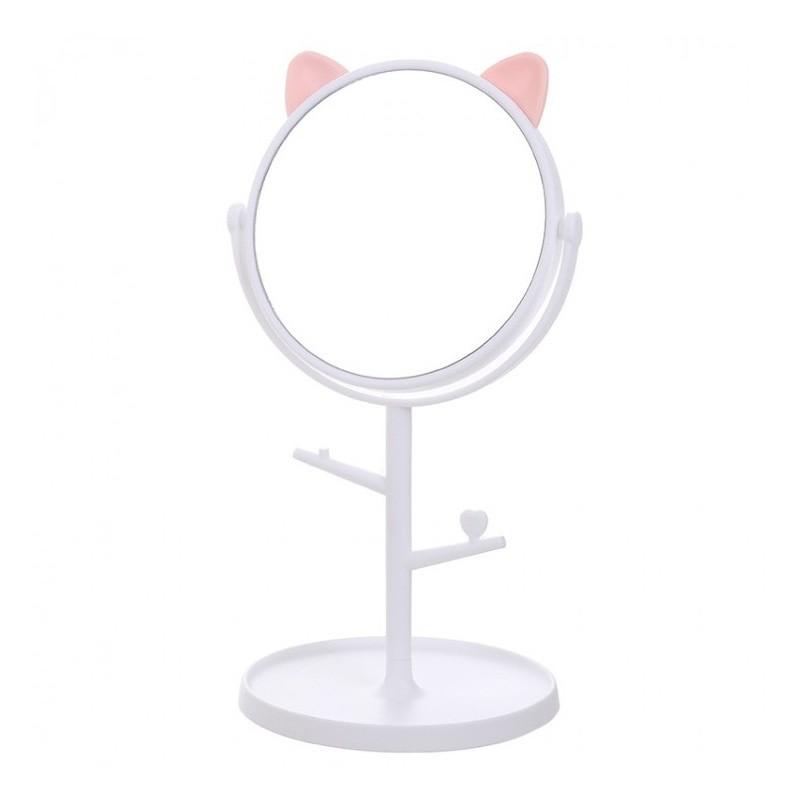 Lusterko kotek stojące białe L3B