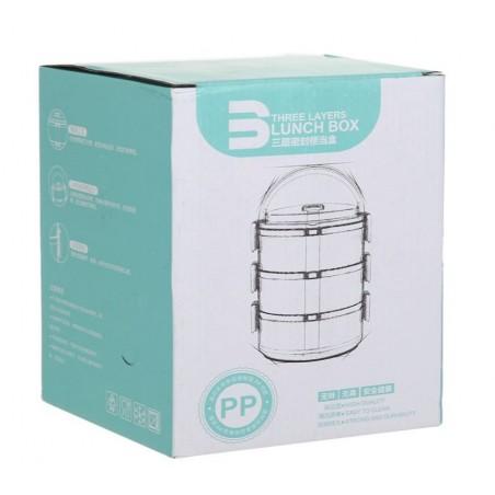 Pojemnik do przenoszenia żywności LUNCH BOX piętrowy 2,1L OR54R