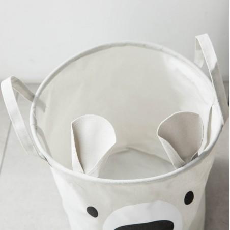 Pojemnik na zabawki kosz, worek na pranie miś OR49SZ