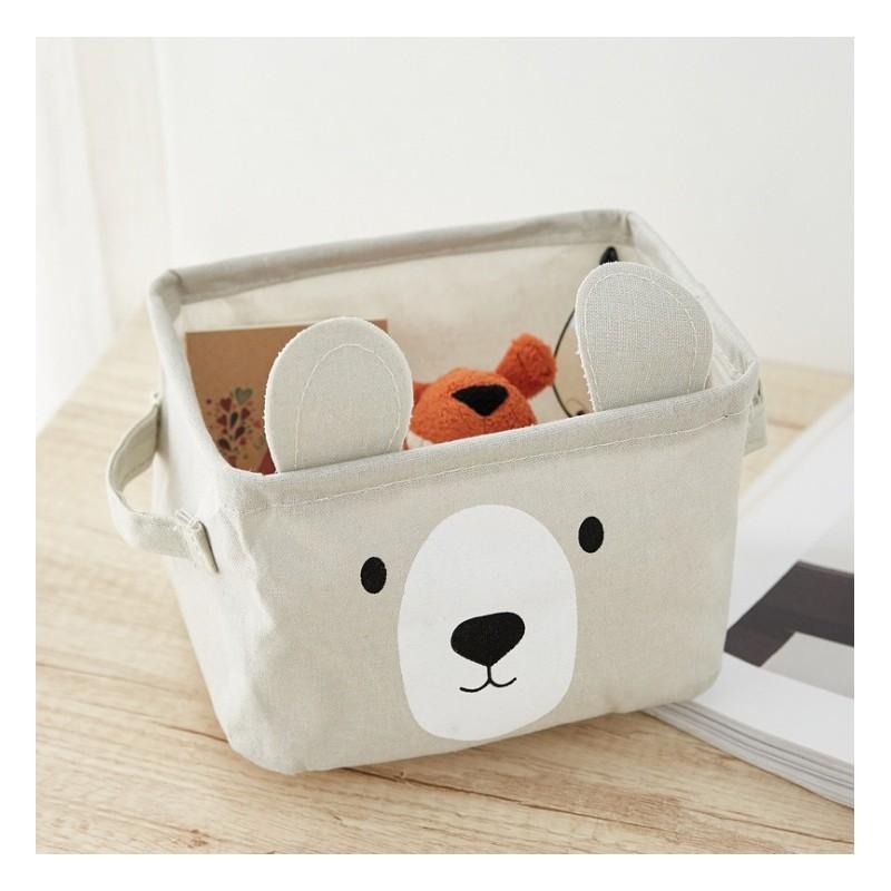 Pojemnik na zabawki kosz, worek na pranie miś OR51SZ