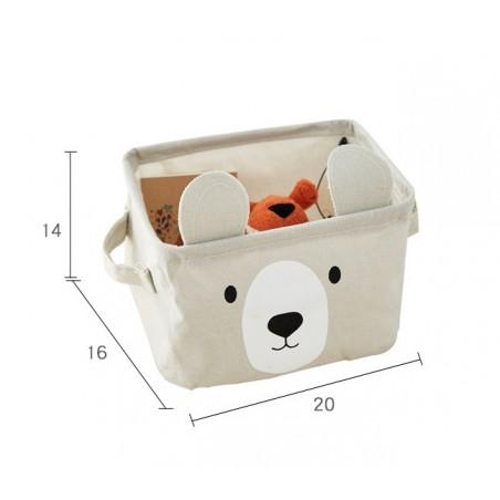 Pojemnik na zabawki kosz, worek na pranie miś OR51NMIS