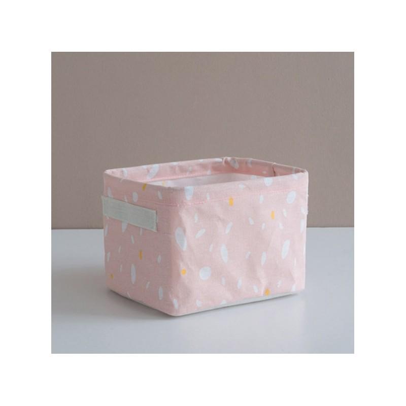 ojemnik na zabawki kosz, worek na pranie róż OR52RZO