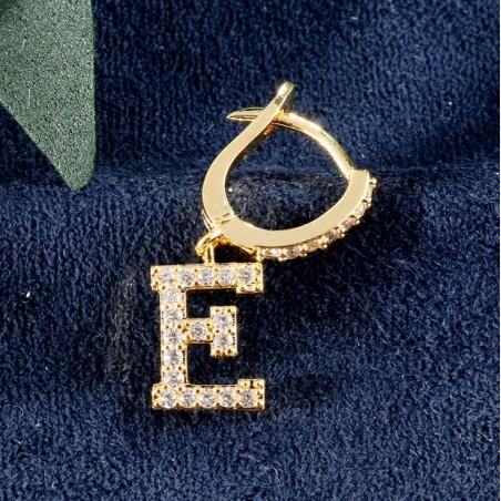 Kolczyki pozłacane literka E KST1683E