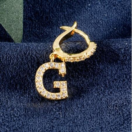 Kolczyki pozłacane literka G KST1683G