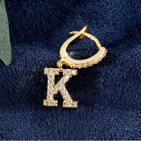Kolczyki pozłacane literka K KST1683K