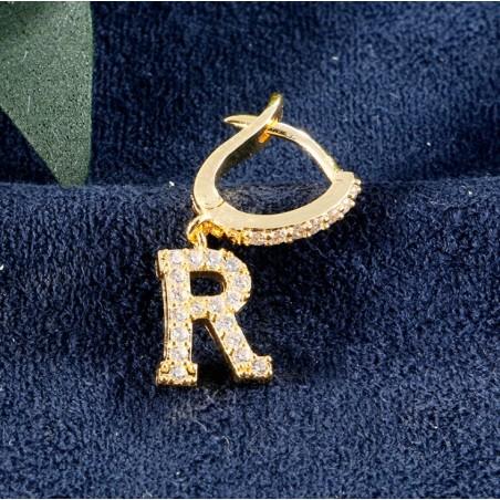 Kolczyki pozłacane literka R KST1683R