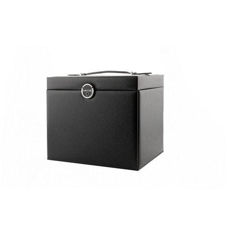 Szkatułka na biżuterię STENBERG kuferek etui organizer pudełko czarna PD64CZ