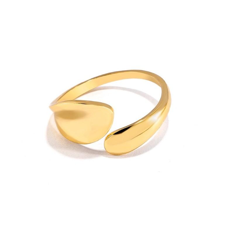Pierścionek pozłacany regulowany stal chirurgiczna platerowana złotem PST575Z