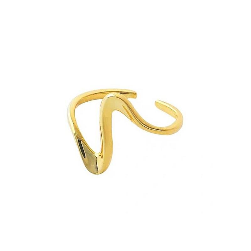 Pierścionek pozłacany regulowany stal chirurgiczna platerowana złotem PST571Z