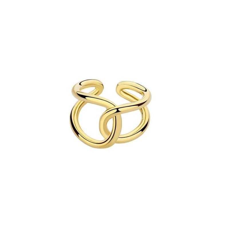 Pierścionek pozłacany regulowany stal chirurgiczna platerowana złotem PST570Z