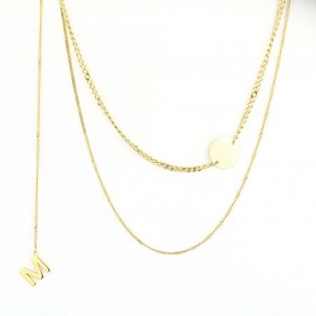 Naszyjnik stal platerowana 14 karatowym złotem NST1010