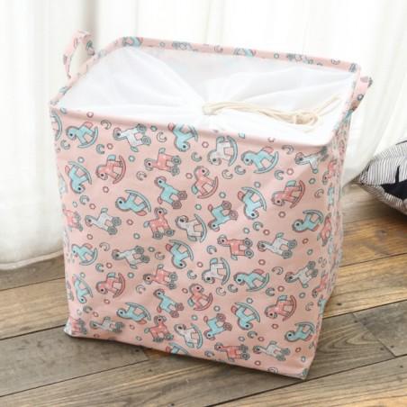 Pojemnik na zabawki kosz, worek na pranie ze ściągaczem 50x40x50 cm OR52WZ2