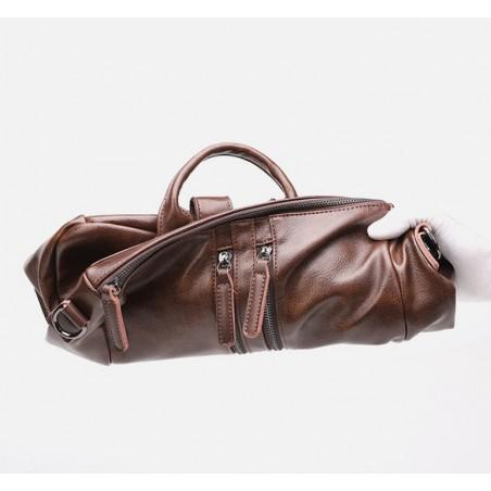 Plecak skóra woskowana elegancki model - black PL148CZ