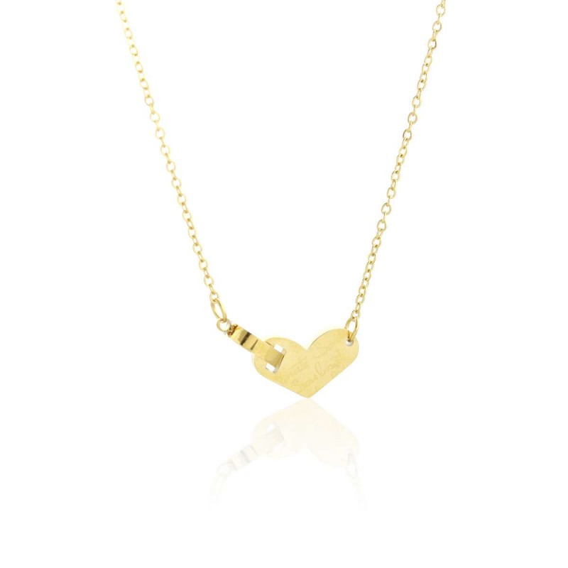 Naszyjnik stal chirurgiczna motyle złoty NST1023