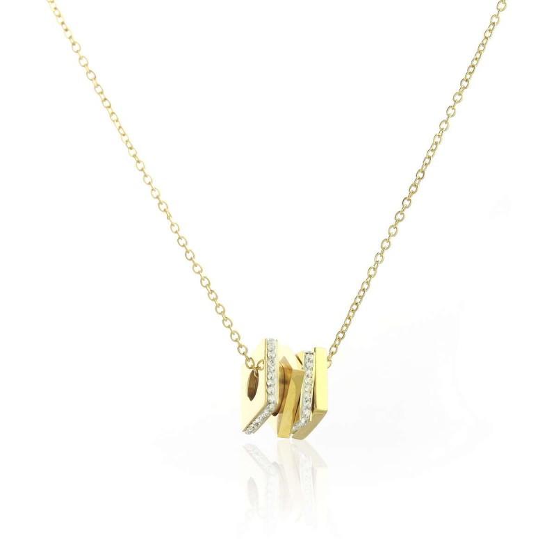 Naszyjnik stal chirurgiczna motyle złoty NST1025