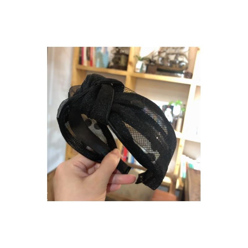 Opaska turban z materiału koronkowa pin up O337CZ