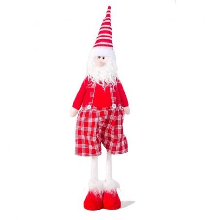 FIGURKA ŚWIĄTECZNA BOŻE NARODZENIE stojący Mikołaj Śpiewający 85 cm Z PLUSZU KSN03WZ2