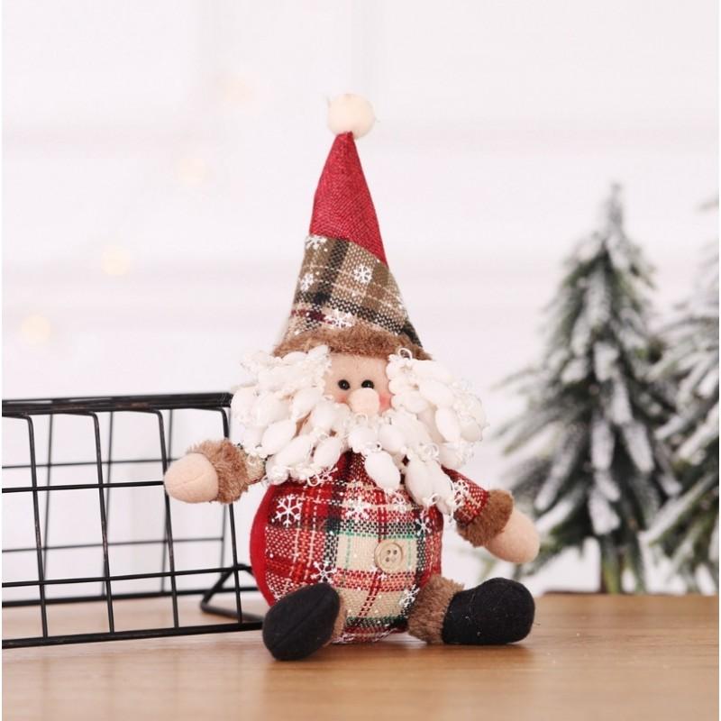 FIGURKA ŚWIĄTECZNA BOŻE NARODZENIE siedzący Mikołaj 25 cm Z PLUSZU KSN05WZ1