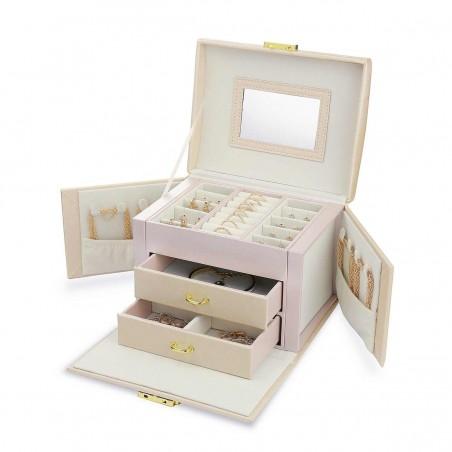 Szkatułka na biżuterię kuferek etui organizer pudełko PD102R