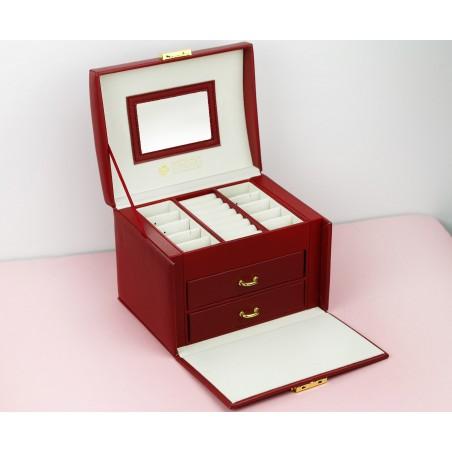 Szkatułka na biżuterię kuferek etui organizer pudełko PD102CZE