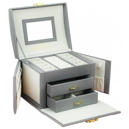 Szkatułka na biżuterię kuferek etui organizer pudełko PD102SZ