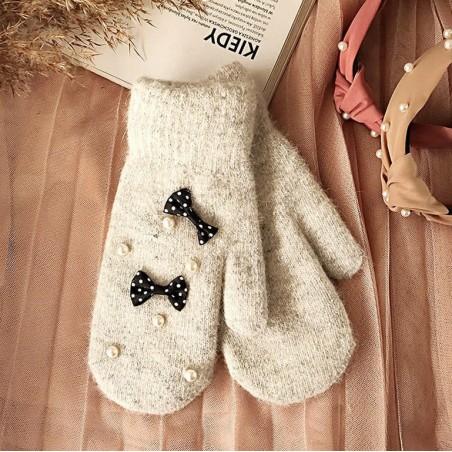 Rękawiczki CUTE szare REK103