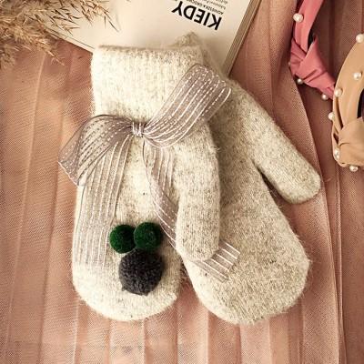 Rękawiczki CUTE pompony...