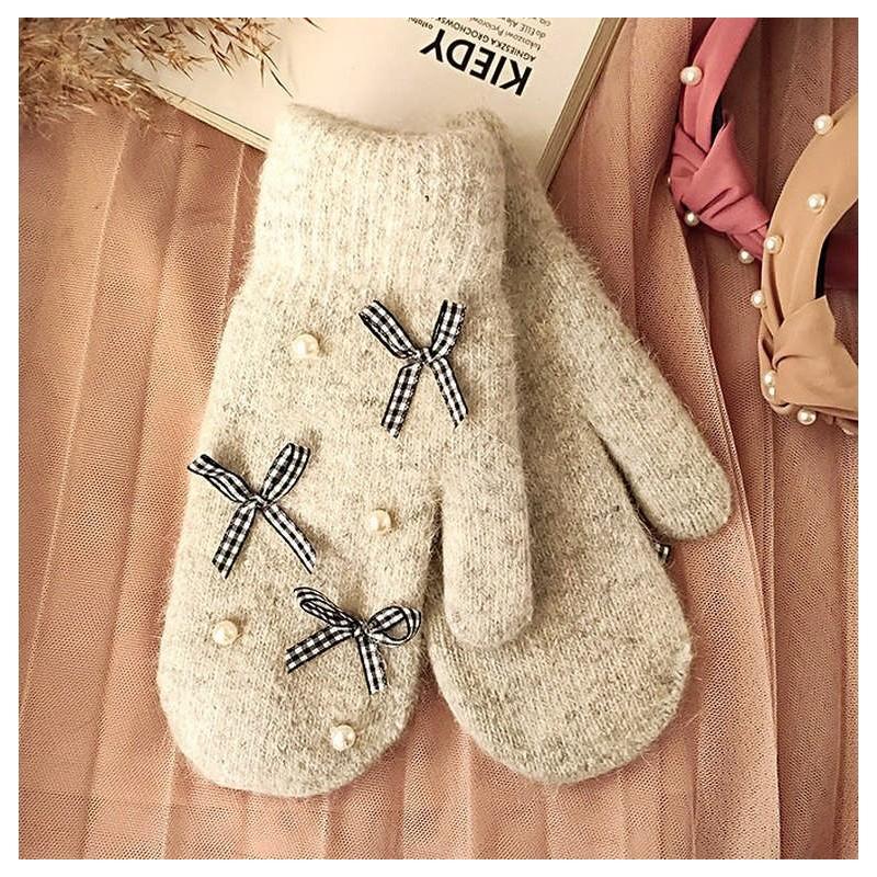 Rękawiczki CUTE szare REK104