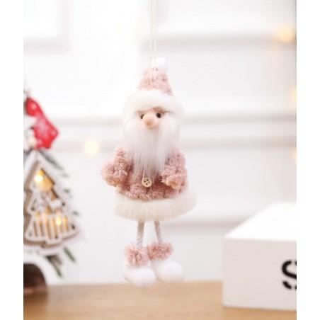 Mikołaj ŚWIĄTECZNY na choinkę BOŻE NARODZENIE wiszący 18 cm Z PLUSZU KSN06