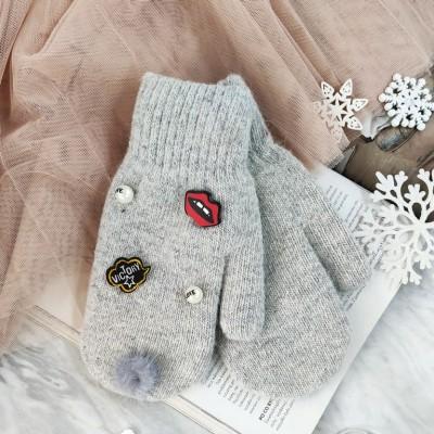 Rękawiczki sweet z pomponem...